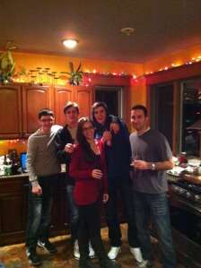 Christmas 2012 with four of my brothers.