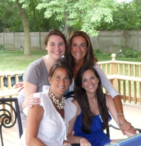 Me with my mom, cousin and aunt.